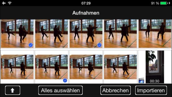 Medien-Import aus der Fotos-App mit nessViewer für iOS